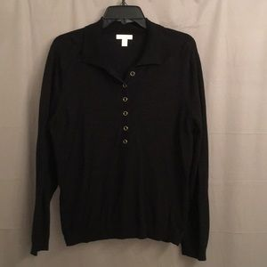 Black button long sleeve